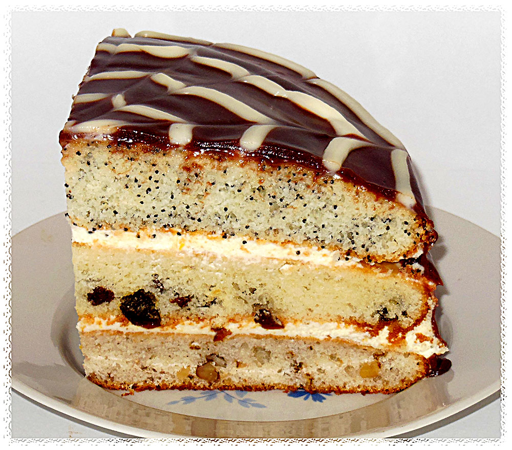 Торт сказка рецепт с орехами и маком